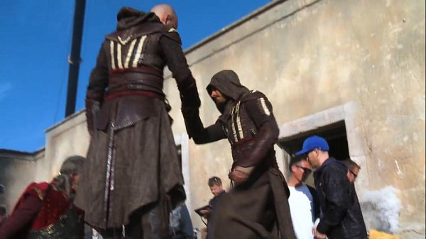 Damien Walters doubles for Michael Fassbender in Assassin's Creed